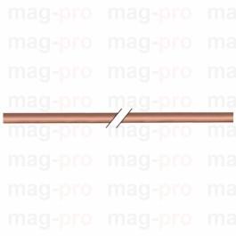 Teava de cupru moale ext. ø 4 mm, int. 2 mm, perete 1 mm, lungime 3 metri - 102110