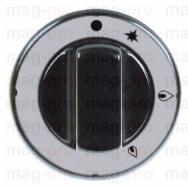 Buton robinet gaz PEL, ø 70 mm, ax ø 10x8 mm, negru - 112257