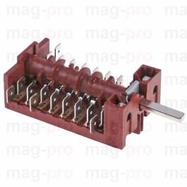 Selector rotativ cu 10 + 1 pozitii, 8 contacte, ax ø 6x4,6 mm, Lofra - LS 347459
