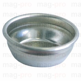Filtru nepresurizat pentru 2 cafele, exterior ø 68 mm, montare ø 60,5 mm, H 24,5 mm, 14 gr. cafea, din inox, orificii ø 0,4 mm - 529022